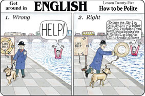 British politeness funny