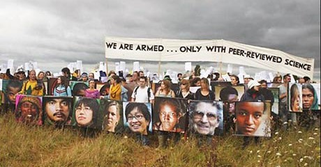 Protesters at Climate Camp UK 2007
